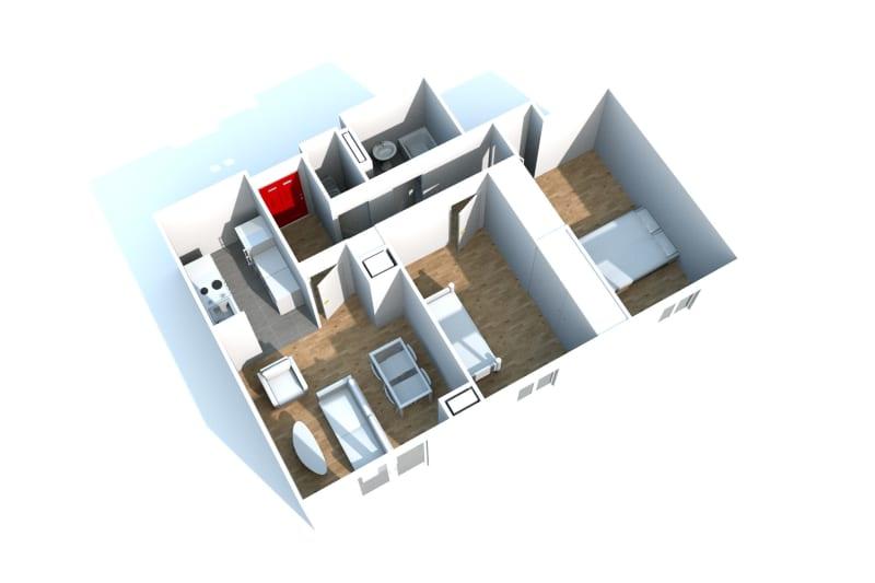 Location appartement F3 à Canteleu proche de l'école élémentaire - Image 5