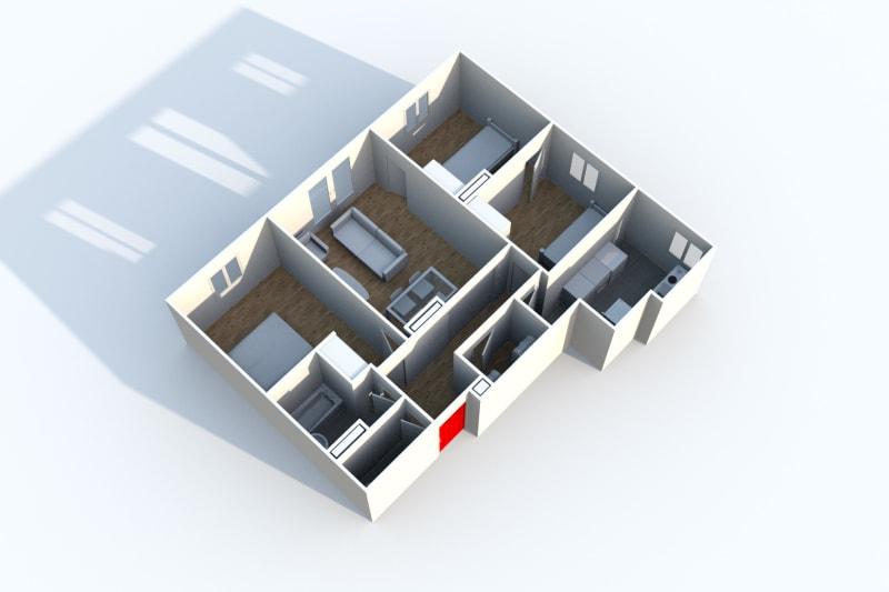 Location appartement F4 à Canteleu proche de l'école élémentaire - Image 4