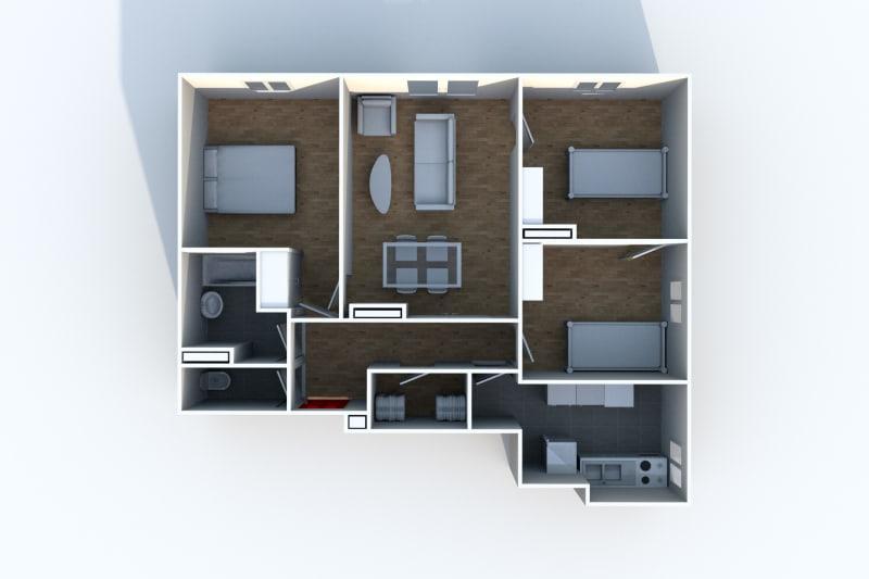 Location appartement F4 à Canteleu proche de l'école élémentaire - Image 5
