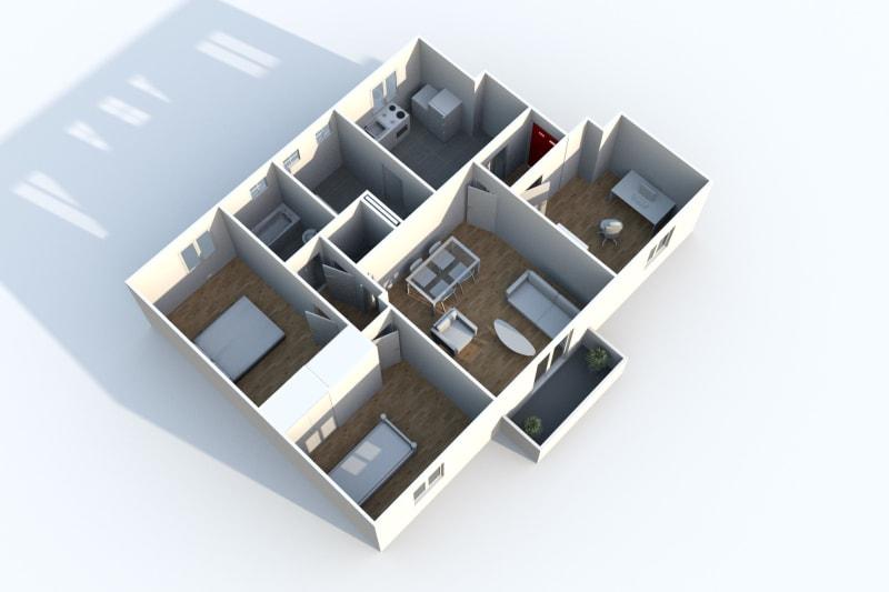 Appartement F3 à Canteleu proche des jardins potagers - Image 3