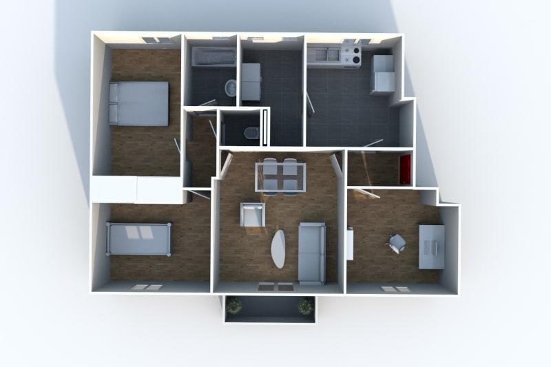 Appartement F3 à Canteleu proche des jardins potagers - Image 4