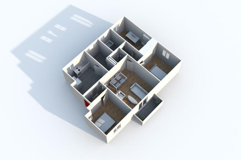 À louer appartement T4 avec vue sur les jardins potagers à Canteleu - Image 4
