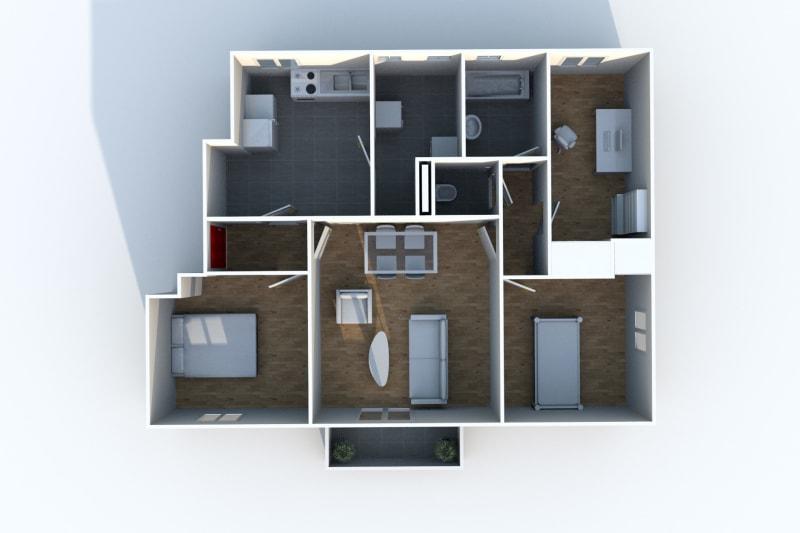 À louer appartement T4 avec vue sur les jardins potagers à Canteleu - Image 5