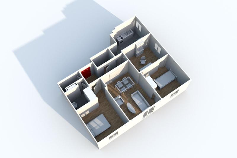 Appartement F4 à louer à Canteleu avec vue sur le panorama de Rouen - Image 5
