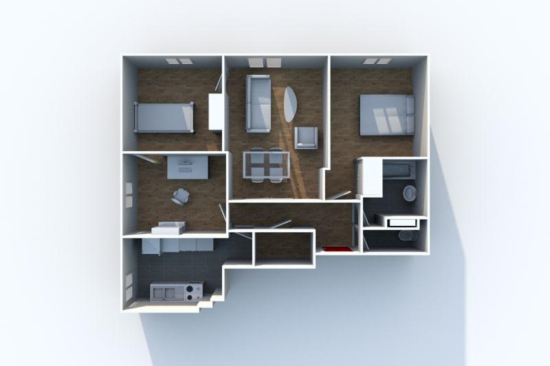 Appartement F4 à louer à Canteleu avec vue sur le panorama de Rouen - Image 6
