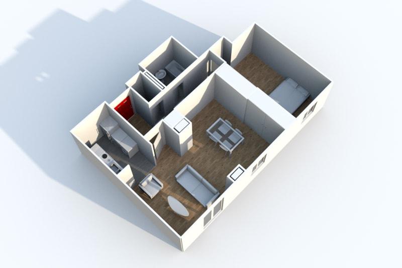 Appartement F3 à louer à Canteleu avec vue sur le panorama de Rouen - Image 6