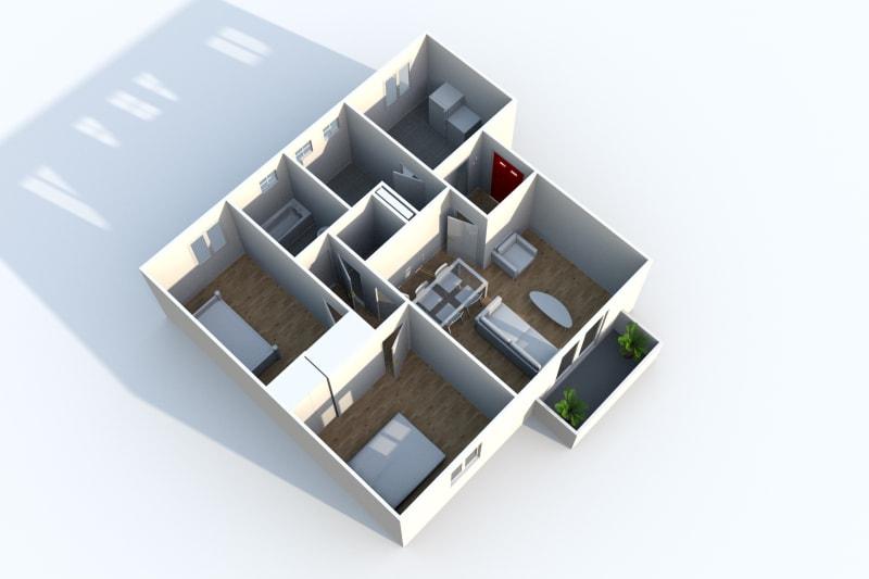 Appartement F3 en location à Canteleu proche Téor - Image 4