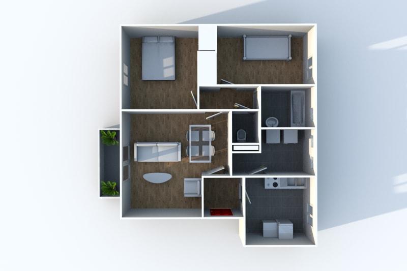 Appartement F3 en location à Canteleu proche Téor - Image 5