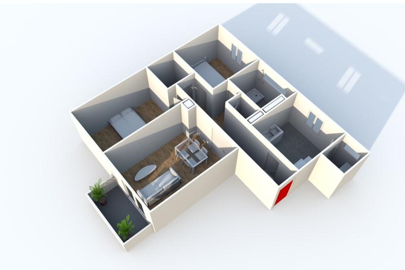 Appartement T3 en location avec balcon à Canteleu - Image 3
