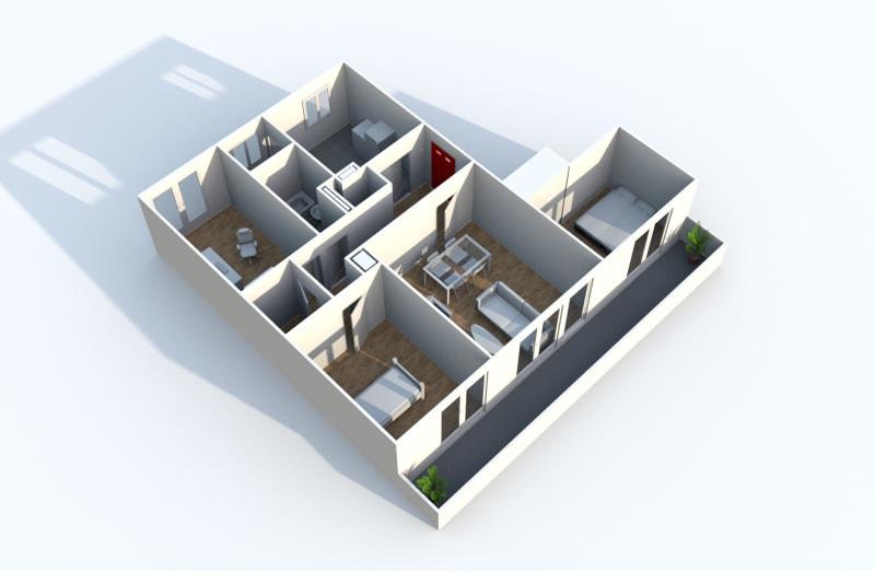 Appartement F4 à louer dans quartier résidentiel à Canteleu - Image 4