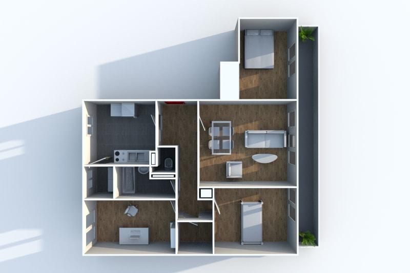 Appartement F4 à louer dans quartier résidentiel à Canteleu - Image 5