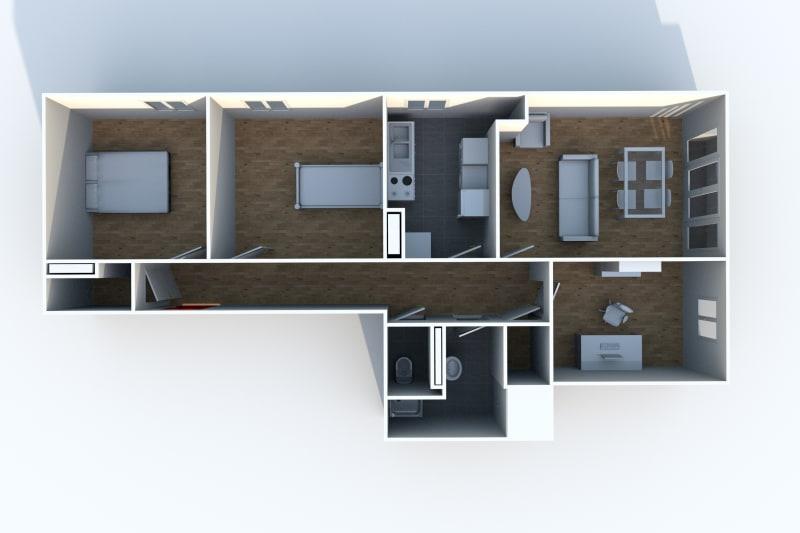 Appartement T4 en location à Canteleu proche parc - Image 8