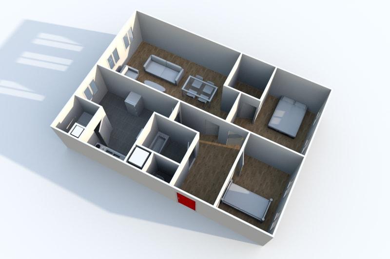 Appartement T3 à louer à Canteleu au pied du Teor - Image 3