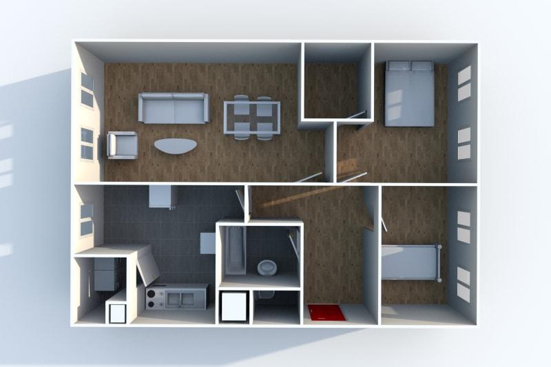 Appartement T3 à louer à Canteleu au pied du Teor - Image 4