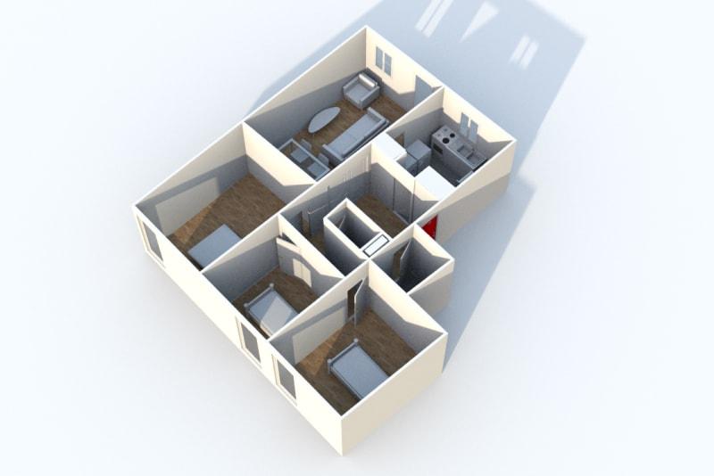 Appartement F4 en location proche du centre-ville de Rives en Seine - Image 6