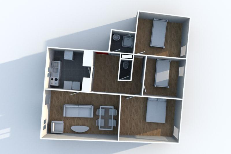 Appartement F4 en location proche du centre-ville de Rives en Seine - Image 7