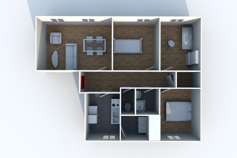 Appartement F4 à louer à Clères au Bas de Beauce - Image 7