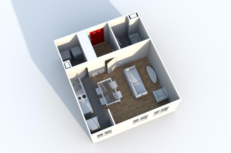 1 pièce dans une résidence verdoyante à Clères - Image 4