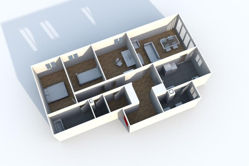 4 pièces dans une résidence verdoyante à Clères - Image 4