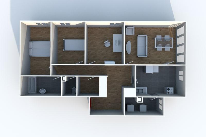 4 pièces dans une résidence verdoyante à Clères - Image 5