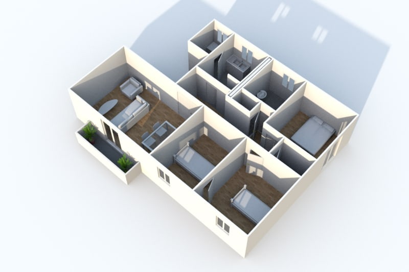 Appartement F4 à louer avec une vue dégagée à Darnétal - Image 6
