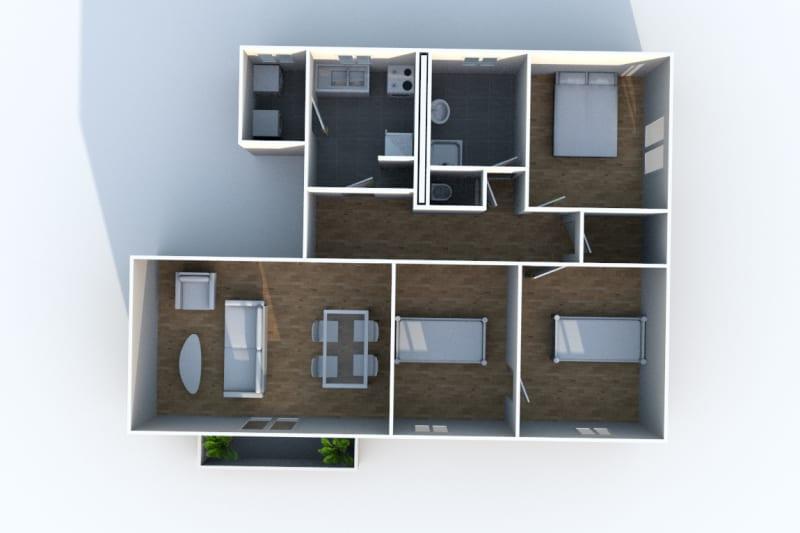 Appartement F4 à louer avec une vue dégagée à Darnétal - Image 7