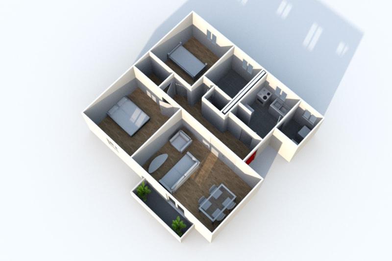 Appartement F3 à louer avec une vue dégagée à Darnétal - Image 6