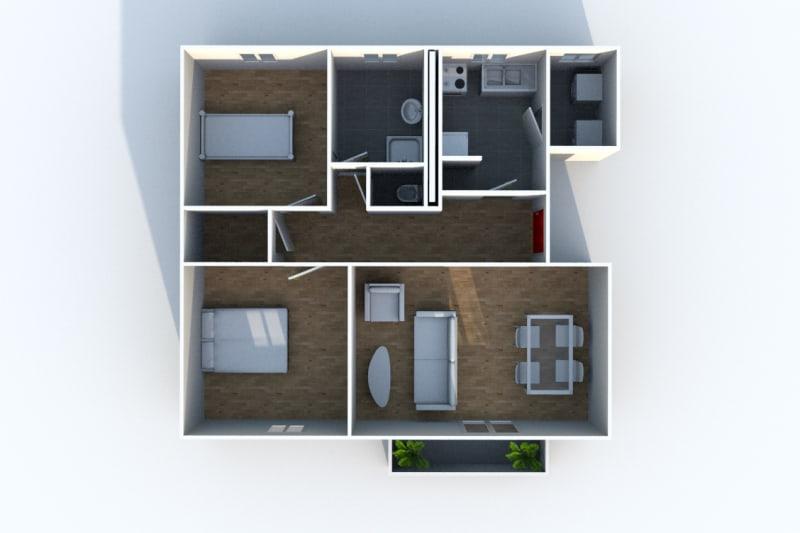 Appartement F3 à louer avec une vue dégagée à Darnétal - Image 7