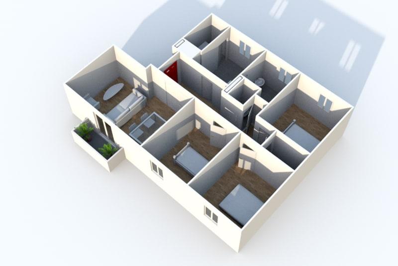 Appartement T4 en location dans le centre-ville de Darnétal - Image 6