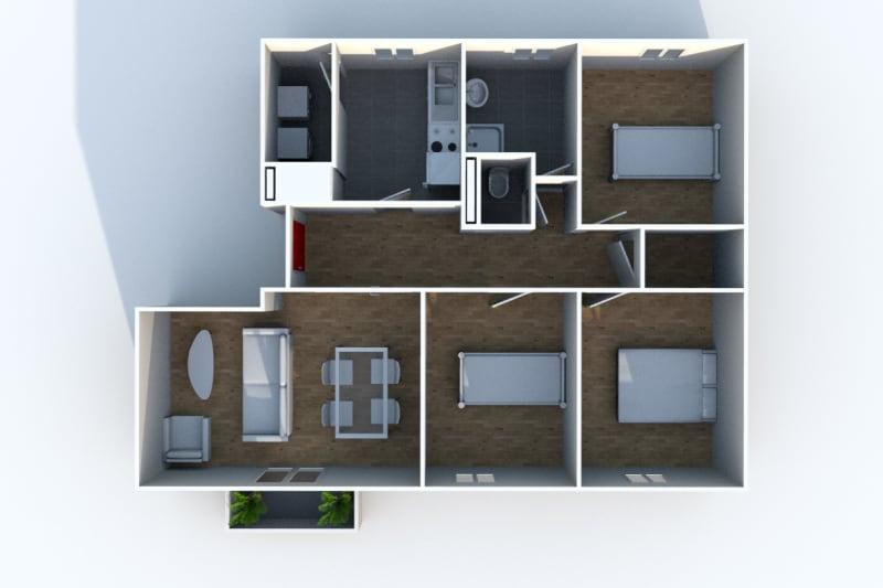 Appartement T4 en location dans le centre-ville de Darnétal - Image 7