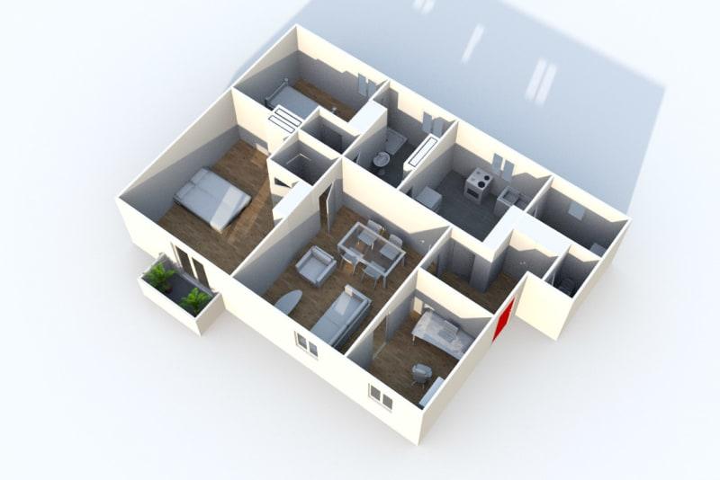 Grand appartement F3 à louer à Déville-lès-Rouen - Image 6
