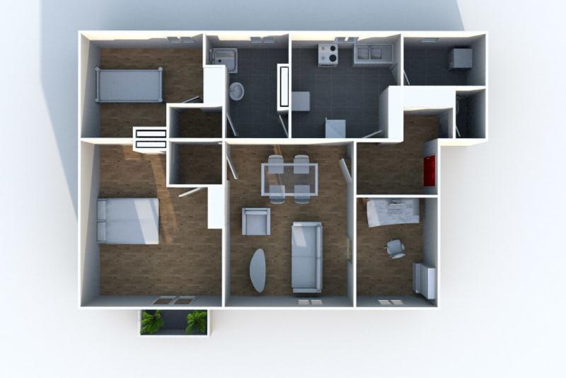 Grand appartement F3 à louer à Déville-lès-Rouen - Image 7