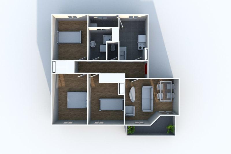 Appartement F4 en location à Déville-lès-Rouen - Image 8