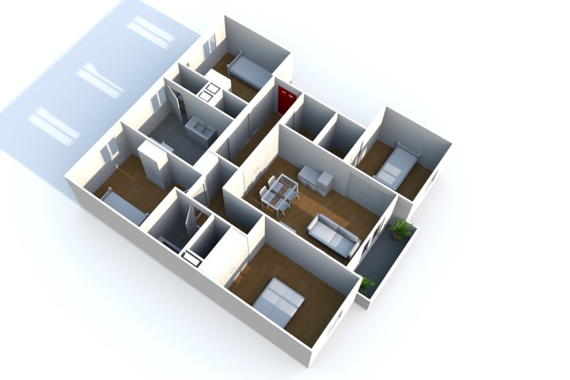Location appartement F5 à Elbeuf dans un cadre verdoyant - Image 7