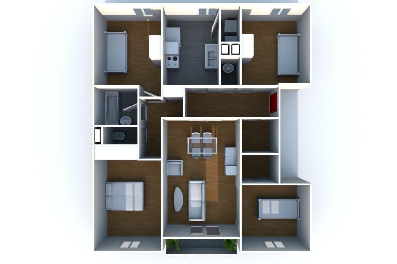 Location appartement F5 à Elbeuf dans un cadre verdoyant - Image 8