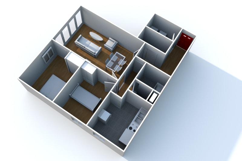 À louer : appartement F3 avec nombreux espaces verts à Elbeuf - Image 4