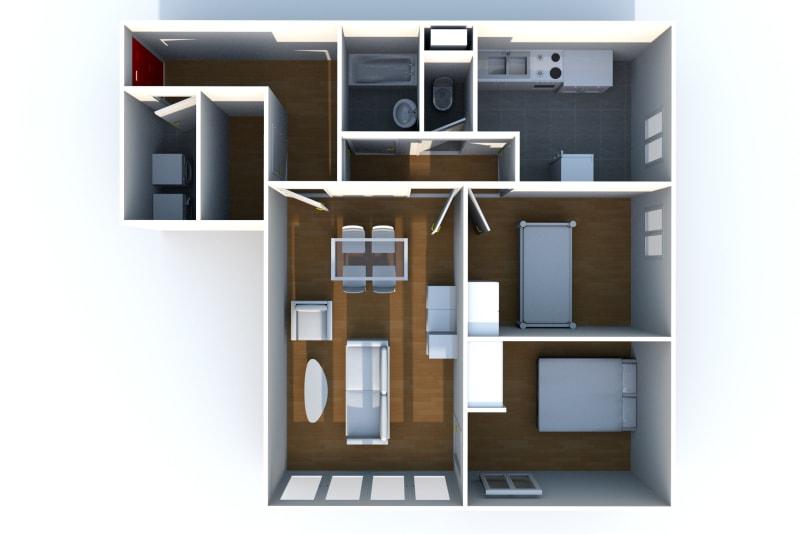 À louer : appartement F3 avec nombreux espaces verts à Elbeuf - Image 5