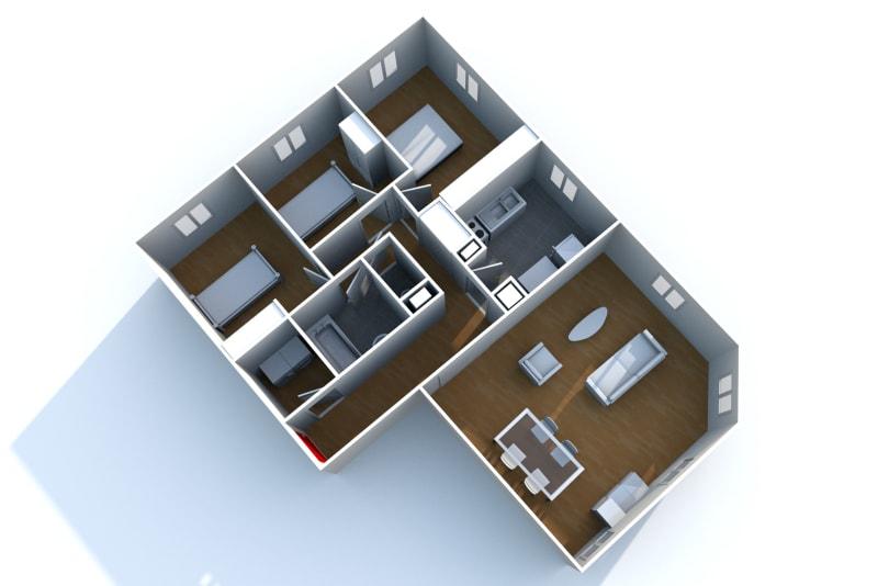 Appartement F4 à louer à Elbeuf proche de l'IUT - Image 6