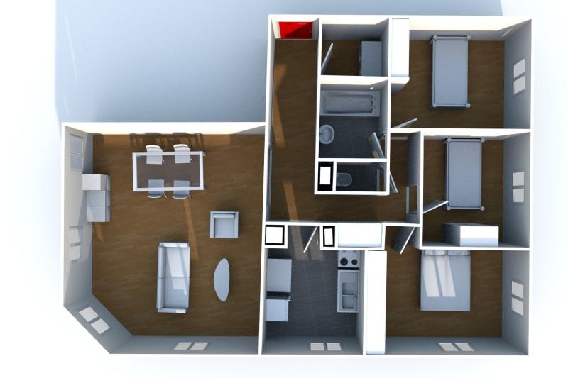 Appartement F4 à louer à Elbeuf proche de l'IUT - Image 7