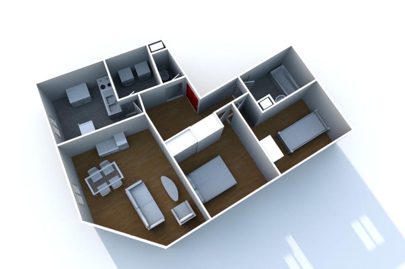 Appartement F3 à louer à Elbeuf proche de l'IUT - Image 6