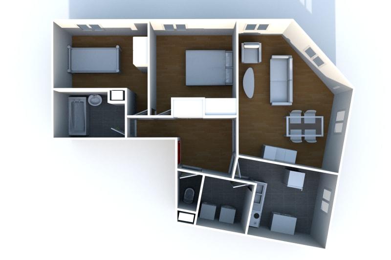 Appartement F3 à louer à Elbeuf proche de l'IUT - Image 7