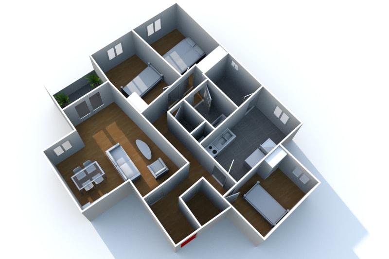 Appartement à louer F4 à Elbeuf proche de la Seine - Image 6