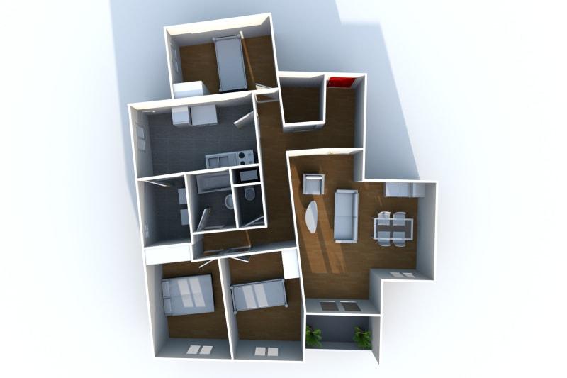 Appartement à louer F4 à Elbeuf proche de la Seine - Image 7