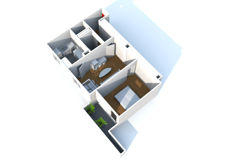 Appartement F2 en location à Fécamp proche du centre aquatique - Image 3