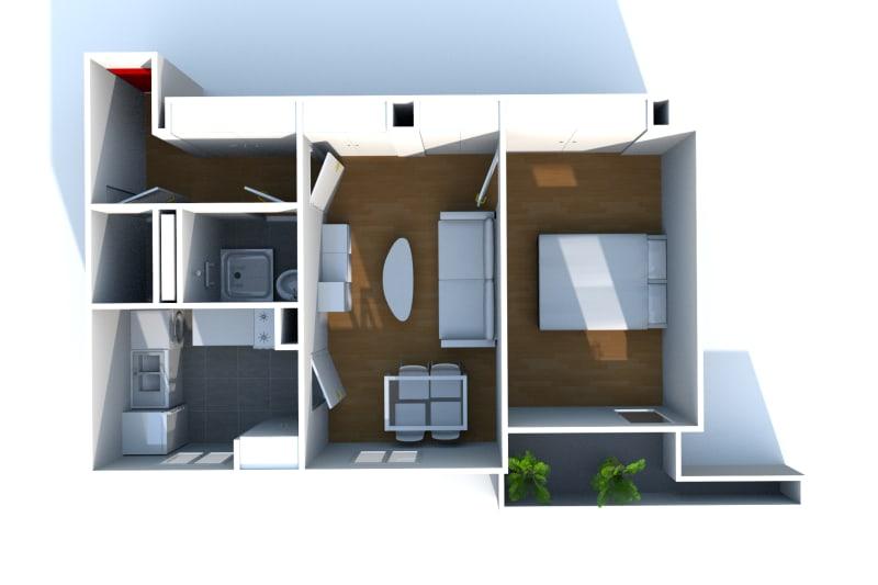 Appartement F2 en location à Fécamp proche du centre aquatique - Image 4