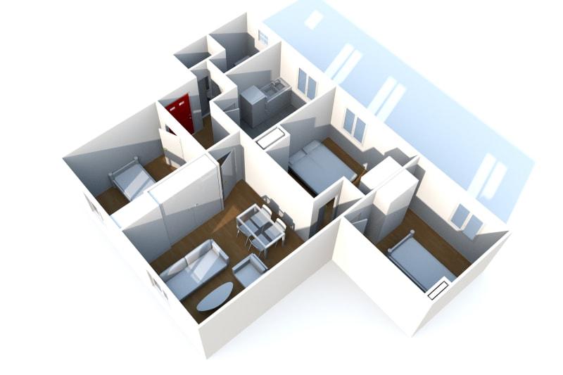 Appartement T4 à louer à Fécamp dans une résidence réhabilitée - Image 4