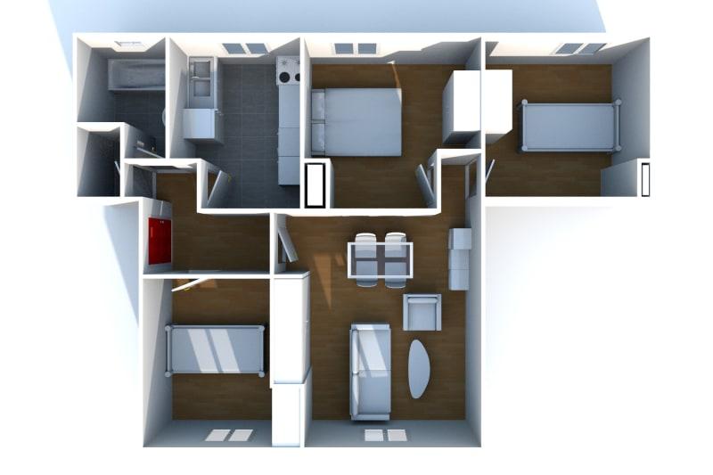 Appartement T4 à louer à Fécamp dans une résidence réhabilitée - Image 5