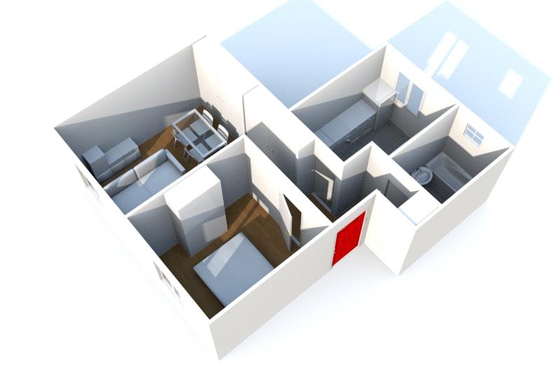 Appartement T2 à louer à Fécamp dans une résidence réhabilitée - Image 4