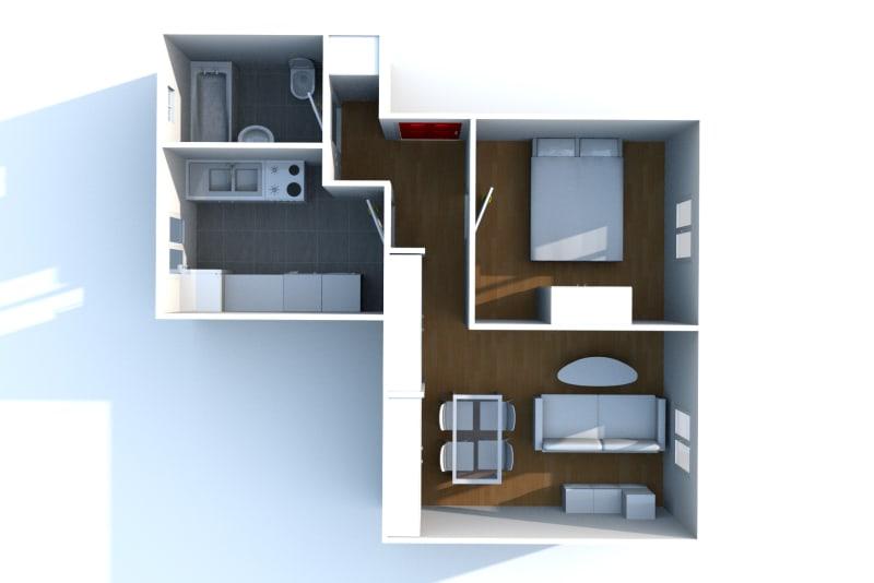 Appartement T2 à louer à Fécamp dans une résidence réhabilitée - Image 5