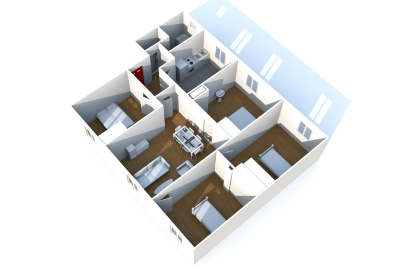 Appartement F5 en location à Fécamp dans une résidence réhabilitée - Image 2